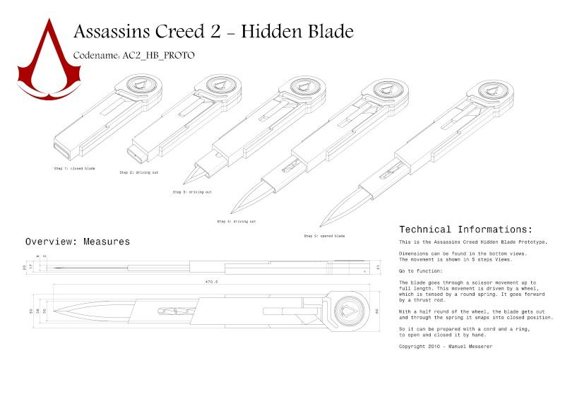 Чертёж скрытого клинка ассасина из металла своими руками 81