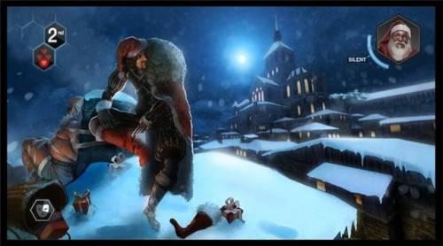 Рождественская открытка тематики Assassins Creed Brotherhood